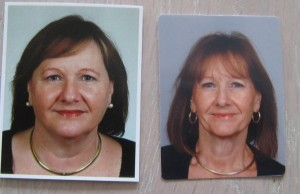Before and after passport photos