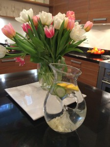 Called Flat Tummy Water, tastes great and looks nice too!