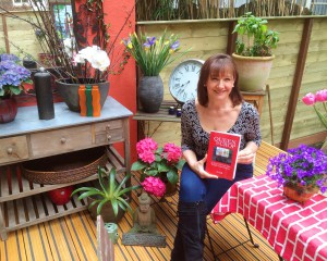 The happy author with her first book!